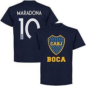 Boca Maradona 10 CABJ Crest KIDS T-Shirt - Navy