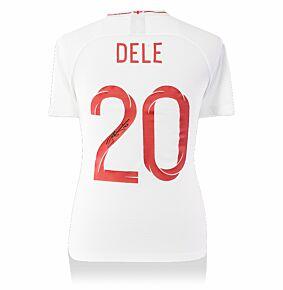 Dele Alli Back Signed EnglandHome Shirt - (Fan Style Print) (Fan Style Print)