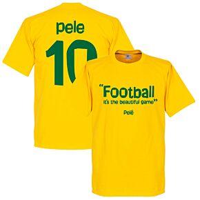 Pele 10 'Football It's the Beautiful Game' Tee