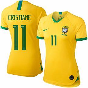 Nike Brazil Womens Home Cristiane 11 Jersey2019-2020 (Fan Style Printing)