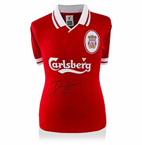 John Barnes Signed Liverpool 96-98 Home Retro Shirt (Front Signed)