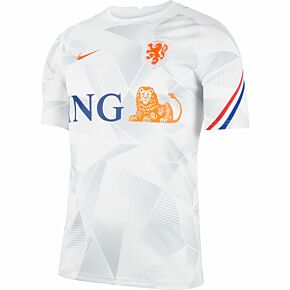 20-21 Holland Breathe PreMatch S/S Top - White/Orange