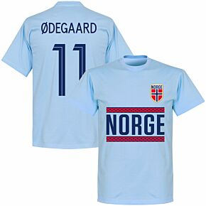Norway Ødegaard 11 Team T-shirt - Sky Blue