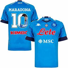 20-21 Napoli Home Shirt + Maradona 10 (Gallery Style Printing)