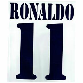 Ronaldo 11 - 02-03 Real Madrid Home Flex Name and Number Transfer