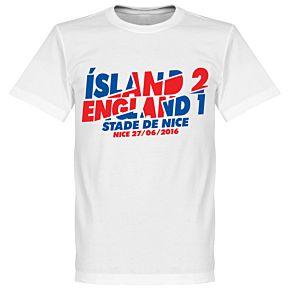 Iceland 2 England 1 Victory Tee