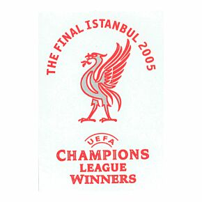 2005 Liverpool C/L Winners Official Transfer (Away)