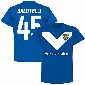 Brescia Balotelli 45 Team Tee - Royal