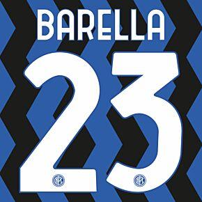 Barella 23 - 20-21 Inter Milan Home Official Printing