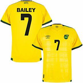 21-22 Jamaica Home Shirt + Bailey 7 (Fan Style Printing)