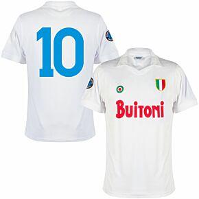 87-88 Napoli Away Retro Shirt + No.10 (Retro Flex Printing)