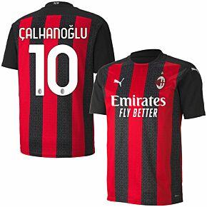20-21 AC Milan Home Shirt + Calhanoglu 10 (Official Printing)