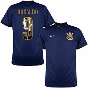 21-22 Corinthians 3rd Shirt + Ronaldo 9 (Gallery Style Printing)