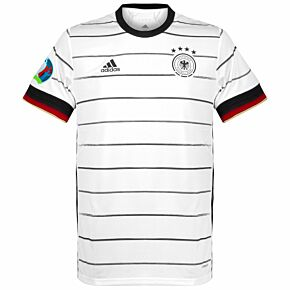 20-21 Germany Home Shirt + Euro 2020 + Respect Patches