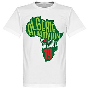 Algeria Champions of Africa Map Tee - White/Green