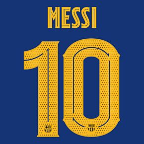 Messi 10 (Official C/L Printing) - 20-21 Barcelona Home