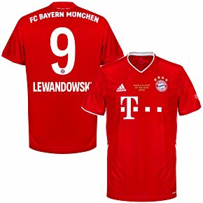 20-21 Bayern Munich Home Shirt + Lewandowski 9 (Player of the Year Edition)