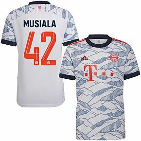 21-22 Bayern Munich 3rd Shirt + Musiala 42 (Official Printing)