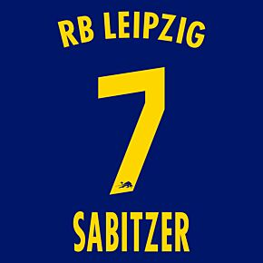 Sabitzer 7 (Official Printing) - 20-21 RB Leipzig Away
