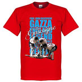 Gazza Legend Tee - Red