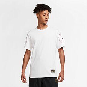 20-21 PSG x Jordan Logo T-shirt - White