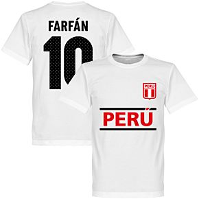 Peru Farfan 10 Team Tee - White