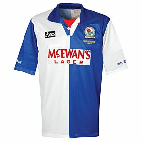 Asics Blackburn Rovers 1995-1996 Home Shirt - USED Condition (Great) - PREMIER LEAGUE CHAMPIONS 1994-1995 - Size L