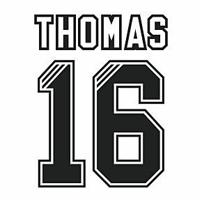 Thomas 16 (Retro Flock Printing) 95-96 Liverpool Away