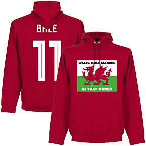 Wales, Golf, Madrid, In That Order Bale 11 Hoodie - Red