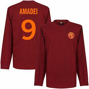 41-42 AS Roma L/S Retro Shirt + Amadei 9