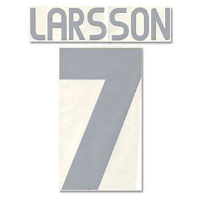 Larsson 7 - 03-04 Sweden Away Official Name and Number Transfer
