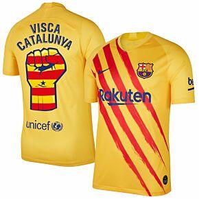 Nike Barcelona 4th Visca Catalunya Shirt 2019-2020 (Fan Style Printing)