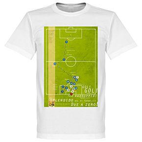 Pennarello Marco Tardelli 1982 Classic Goal Tee - White