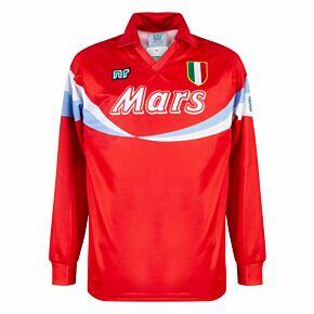 90-91 Ennerre Napoli 3rd L/S  Retro Shirt (Mars Sponsor) - Red