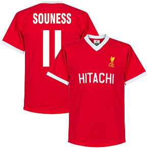 1978 Liverpool Home Retro Shirt + Souness 11 (Retro Style Printing)