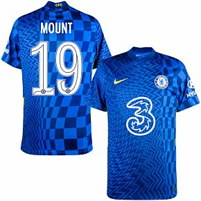 21-22 Chelsea Home Shirt + Mount 19 (Official Cup Printing)
