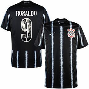 21-22 Corinthians Away Shirt + Ronaldo 9 (Gallery Style Printing)