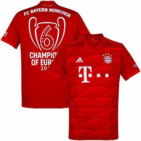 19-20 Bayern Munich Home Shirt + Champions of Europe 2020 Print
