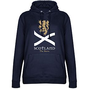 Scotland the Brave Womens Hoodie - Navy