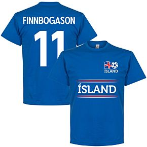 Island Finnbogason 11 Team Tee - Royal