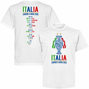Italia Champions of Europe 2020 Road to Victory KIDS T-shirt - White