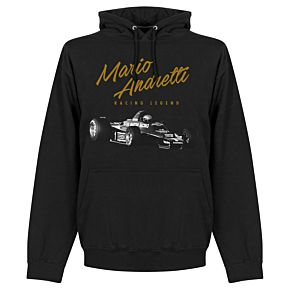Mario Andretti Hoodie - Black