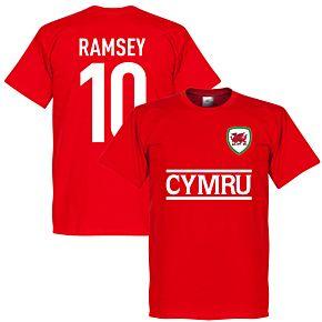 Cymru Ramsey 10 Team Tee - Red
