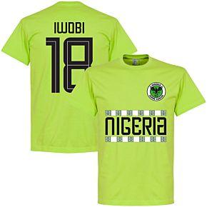 Nigeria Iwobi 18 Team Tee - Light Green