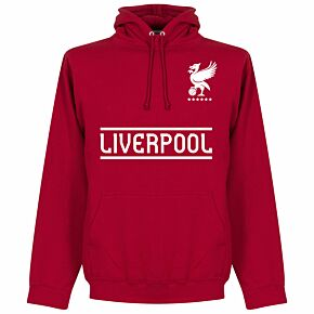 Liverpool Team Hoodie - Red Chilli