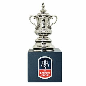FA Cup Official Replica Trophy (45mm) on Wooden Pedestal