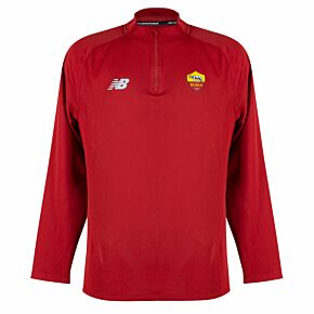 21-22 AS Roma 1/4 Zip L/S Drill Top - Red