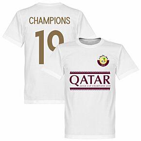 Qatar 2019 Asian Cup Winners Tee - White
