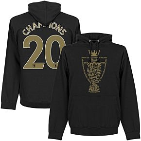 """Liverpool 2020 League Champions Trophy """"Champions 20"""" Hoodie - Black"""