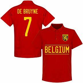 Belgium De Bruyne 7 Team Polo Shirt - Red